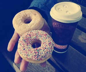 coffee, donut, and dunkin donuts image