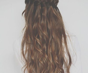braid, brown, and brunette image
