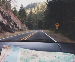 car, couple, and travel image