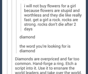 diamond, flowers, and funny image