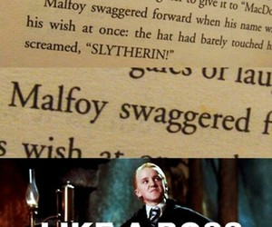 harry potter, malfoy, and swag image
