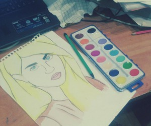 drawing, girl, and allisonharvard image