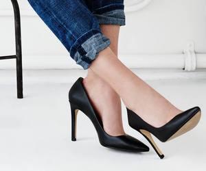 banana republic, heels, and classy image