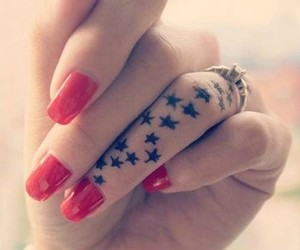 stars, tattoo, and nails image