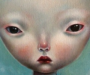 alien, beauty, and eyes image
