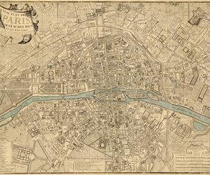 map of paris, historic maps, and plan de paris image