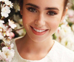 lily collins, smile, and pretty image