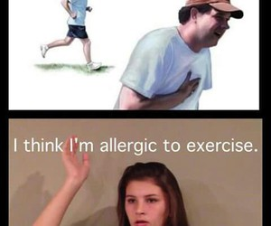 allergic, funny, and exercise image