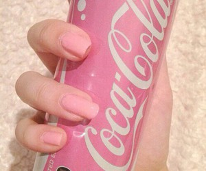 coke, nails, and pink image