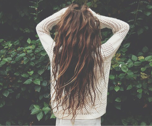 hair, girl, and brunette image