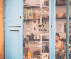 cafe, quotes, and vintage image
