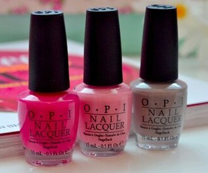 nail polish, nails, and pink image