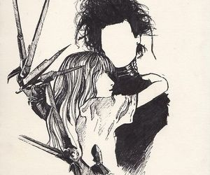 drawing, edward scissorhands, and johnny depp image