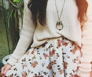 comfy, floral skirt, and warm image