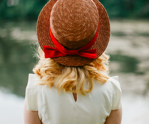 girl, hat, and vintage image