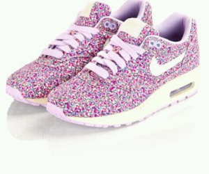 nike, pink, and floral image