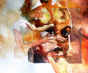 kids, painting, and watercolor image