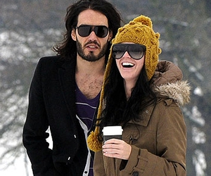 couple, katy perry, and russel brand image