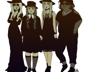black, coven, and magic image