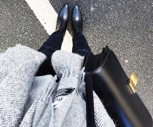 black, gray, and fashion image