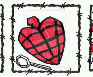 bom, green day, and hearts image