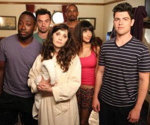 new girl, jess, and coach image