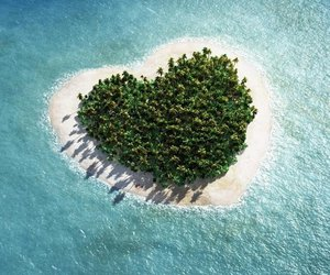 heart, Island, and ocean image