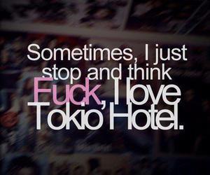 fuck, love, and tokio hotel image
