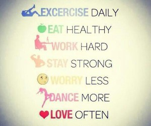fitness, quote, and love image