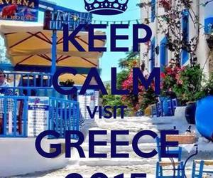 beach, blue, and Greece image