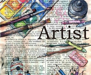 art, artist, and paint image