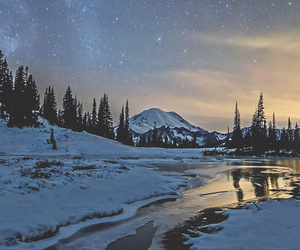 snow, landscape, and mountains image