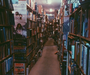 books, grunge, and hipster image