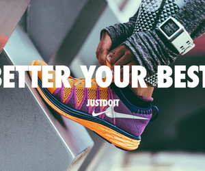healthy, shoes, and Just Do It image