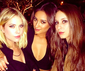 troian bellisario, shay mitchell, and ashley benson image