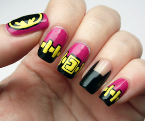 batgirl, batman, and nail art image