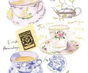 tea, illustration, and art image