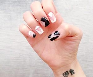 black, tattoo, and Nail-polish image