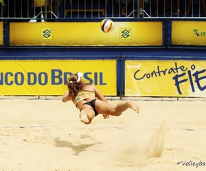 beach volley and volleyball image
