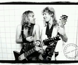 def leppard, phil collen, and steve clark image
