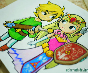 link, the legend of zelda, and zelda image