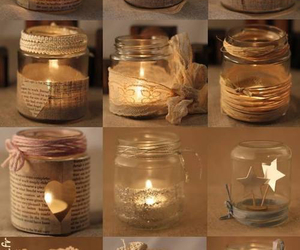 diy, candles, and light image