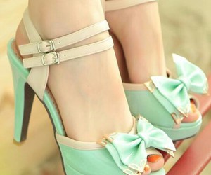 heels, mint, and pretty image