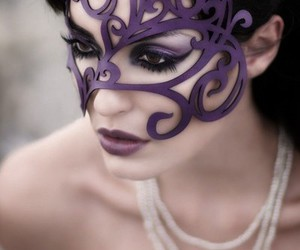 mask, purple, and beauty image