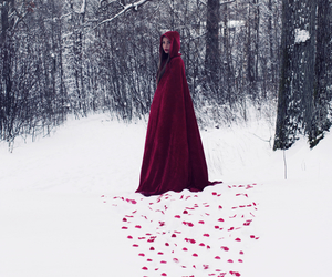 fantasy and red riding hood image