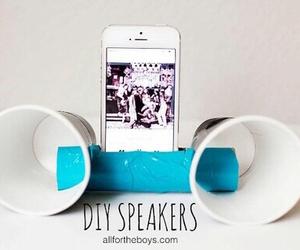 diy, speaker, and phone image