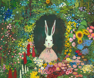 art, hole, and Lewis Carroll image