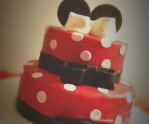 cake, food, and mickey mouse image