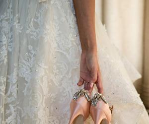 bride, vintage, and dress image