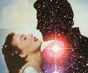 love, stars, and universe image